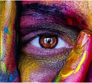 Close up image of a person's eye